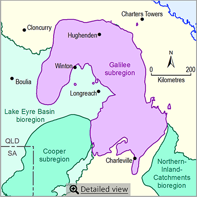 Thumbnail map of the Galilee subregion. Click image to view detailed map.