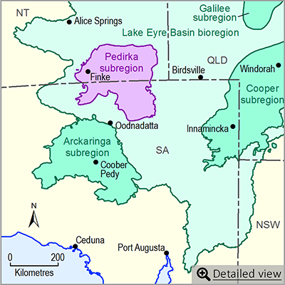 Thumbnail map of the Pedirka subregion. Click image to view detailed map.