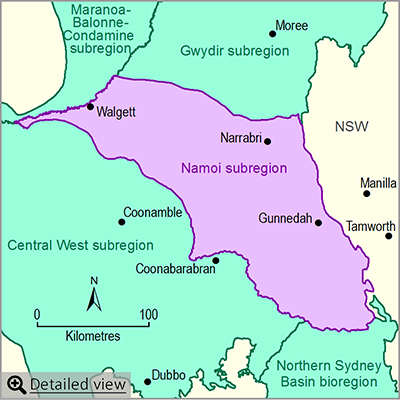 Thumbnail map of the Namoi subregion. Click image to view detailed map.