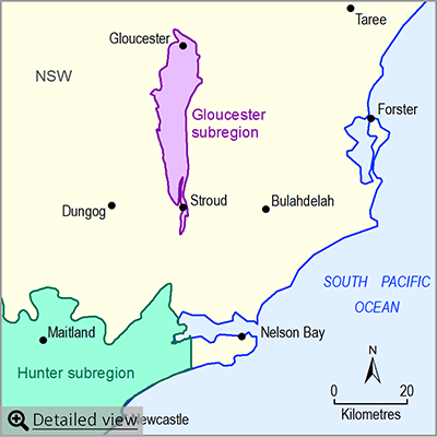 Thumbnail map of the Gloucester subregion. Click image to view detailed map.