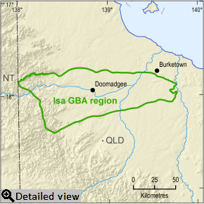 Thumbnail image of the Isa GBA Region, Click for a detailed view