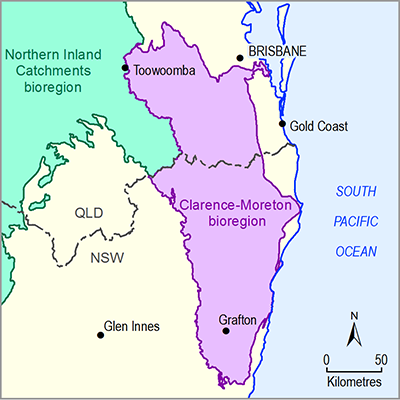 Thumbnail images of the Clarence-Moreton bioregion