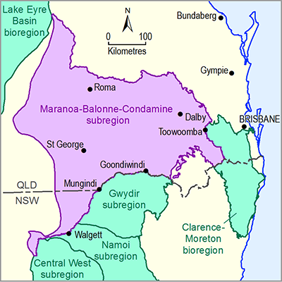 Thumbnail of the Maranoa-Baloone-Condamine subregion