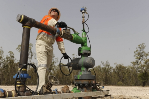 QGC Australia Coal seam gas well head near Chinchilla, central Queensland. Credit: theconversation.com.