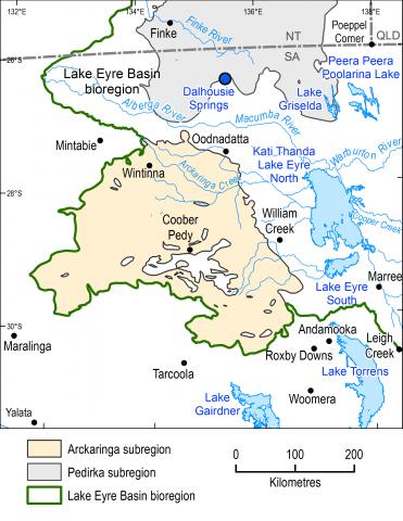 Map of the Arckaringa subregion